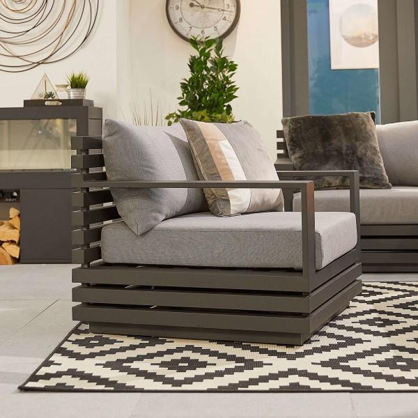 Chimes - San Marino Aluminium Armchair - Grey