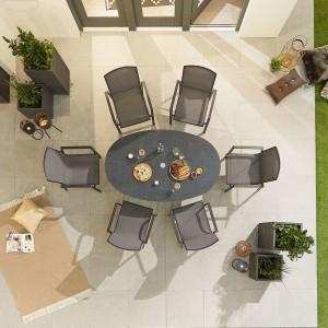 Nova - Milano 6 Seat Oval Dining Set - Grey