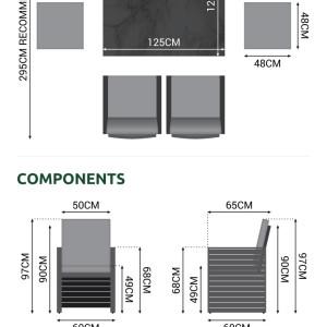 Nova - Adria 4 Seat Cube Set - Grey