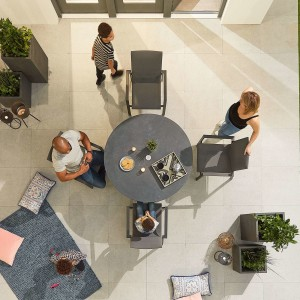 Nova - Roma 4 Seat Round Dining Set - Grey